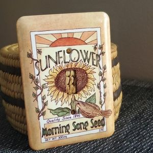 Sunflower, Vintage Look Lightswitch Cover